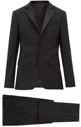 Givenchy Single Breasted Wool Blend Suit - Mens - Black