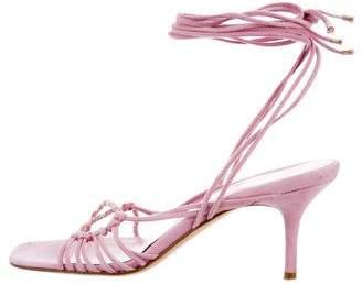 Chanel Multistrap Lace-Up Sandals