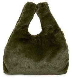 Design Lab Faux Fur Hobo Bag