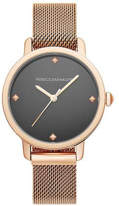 Rebecca Minkoff Bffl Rose Gold Tone Mesh Bracelet Watch, 36Mm