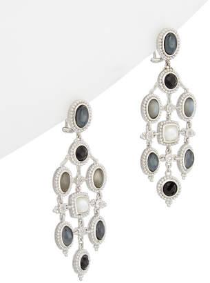 Judith Ripka Silver 17.81 Ct. Tw. Gemstone & Shell Pearl Drop Earrings