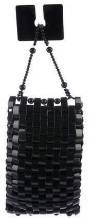 Giorgio Armani Resin-Plated Woven Clutch