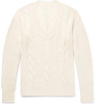 Anderson & Sheppard Cable-Knit Wool Sweater