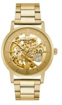 Kenneth Cole Auto Skeleton Stainless Steel Automatic Bracelet Watch