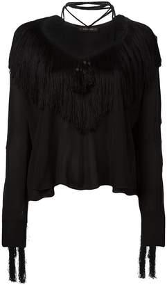 Plein Sud Jeans fringed blouse