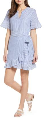 Vineyard Vines Seersucker Wrap Dress