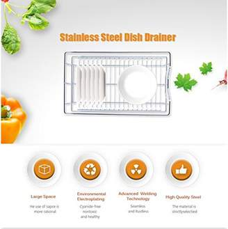 HURRISE Kitchen Sliding Cabinet Organizer,Pull Out Chrome Wire Storage Basket Drawer Kitchen Cabinets