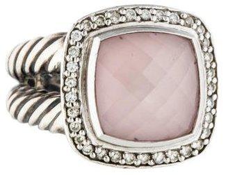 David Yurman Rose Quartz & Diamond Albion Ring $525 thestylecure.com