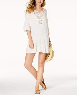 Roxy Cacti Tazia Bell-Sleeve Embroidered Cover-Up Women's Swimsuit