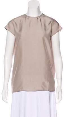 Sofie D'hoore Cap Sleeve Silk Top