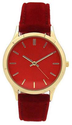 OLIVIA PRATT Olivia Pratt Velvet Womens Red Strap Watch-17459red