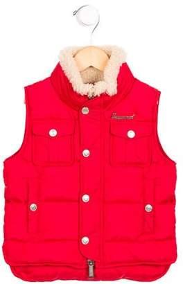 DSQUARED2 Boys' Fur-Trimmed Puffer Vest