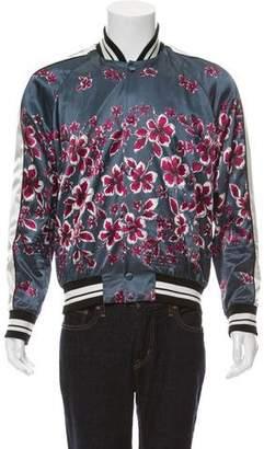 Valentino Floral Print Bomber Jacket