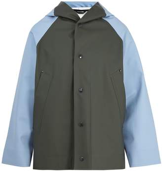 Marni Contrast-panelled hooded raincoat