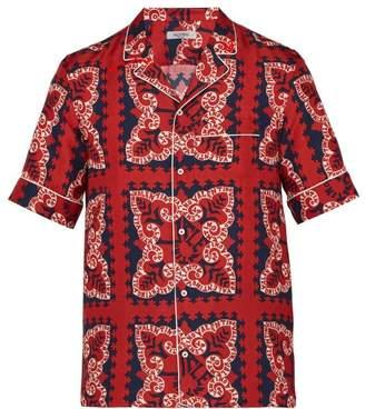 Valentino Bandana Print Bowling Shirt - Mens - Red Multi