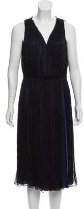 Sophie Theallet Pleated Silk Dress
