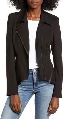 Blank NYC BLANKNYC Zip Detail Fitted Ponte Jacket