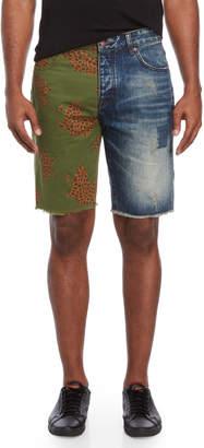 Billionaire Boys Club Duece Split-Denim Shorts