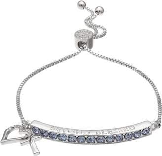 """Brilliance+ Brilliance """"Beyond Blessed"""" Adjustable Bracelet with Swarovski Crystals"""