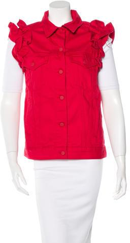 J BrandJ Brand Ruffled Jean Vest