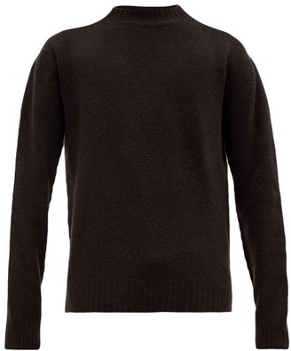 Schnaydermans Schnayderman's - Crew Neck Wool Blend Sweater - Mens - Black