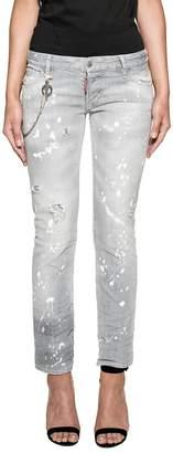 DSQUARED2 Gray Flare Jean Denim Jeans