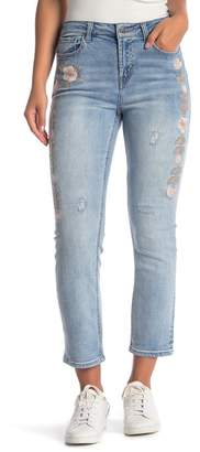Velvet Heart Roelle Embroidered Cropped Jeans