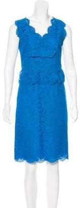 Valentino Lace Knee-Length Dress