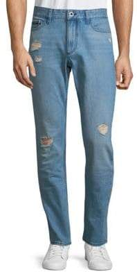 Calvin Klein Slim-Fit Distressed Cotton Jeans