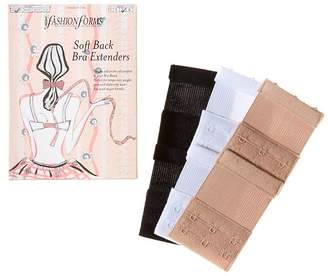 Fashion Forms Soft Back Bra Extenders, Set of 3