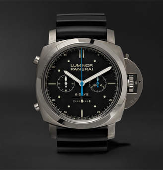 Panerai Officine Luminor 1950 Rattrapante 8 Days Titianio 47mm Titanium and Rubber Watch