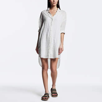 312cd23c White Linen Shirtdress - ShopStyle