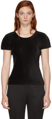 Pleats Please Issey Miyake Black Basics Pleated T-Shirt