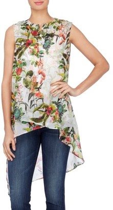 Women's Catherine Catherine Malandrino Livy Print High/low Tunic Blouse $78 thestylecure.com