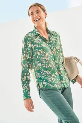 Next Womens Green Floral Printed Soft Shirt