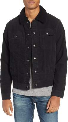 AG Jeans The Dart Corduroy Jacket with Genuine Shearling Collar