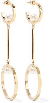 Chloé Darcey Gold-tone Faux Pearl Earrings