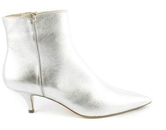 Roberto Festa Silver Calf Leather Ankle Boots