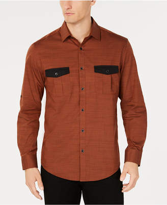 Alfani Men's Warren Contrast-Pocket Woven Shirt