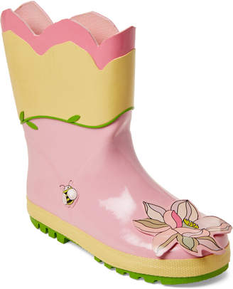 Kidorable Toddler/Kids Girls) Lotus Flower Rain Boots