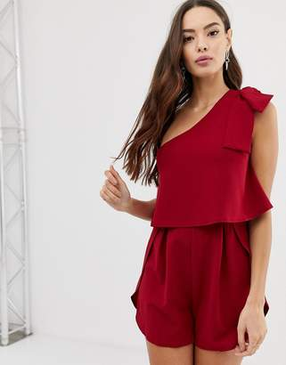 85c625a6ac34 Girl In Mind frill one shoulder playsuit