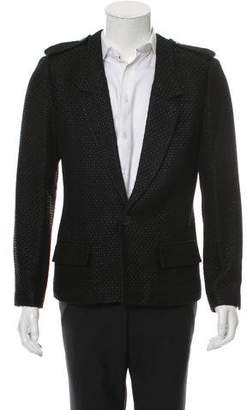 Chanel One-Button Notch-Lapel Blazer