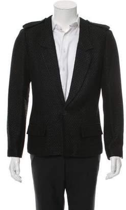 Chanel One-Button Notch-Lapel Blazer