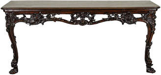 One Kings Lane Vintage Carved Walnut Console