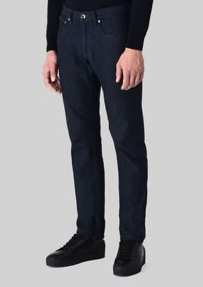 Giorgio Armani Regular Fit Jeans In Japanese Denim