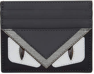 Fendi Black Bag Bugs Card Holder