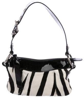 Dolce & Gabbana Patent Leather-Trimmed Ponyhair Bag