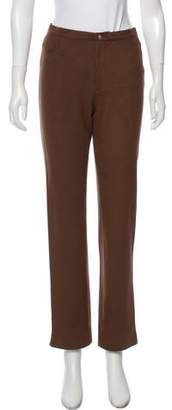 agnès b. Mid-Rise Straight-Leg Pant