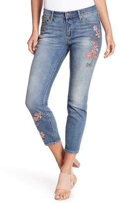 MIRACLE JEAN Divine Ankle Embroidered Jeans
