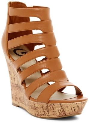 G by GUESS Darien Platform Wedge Sandal $69 thestylecure.com